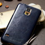 Skin leather smartphone case for galaxy